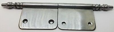 New Pair Lacquered Steel Lift Off Door Cabinet Hinges Nickel Vintage Look S1796