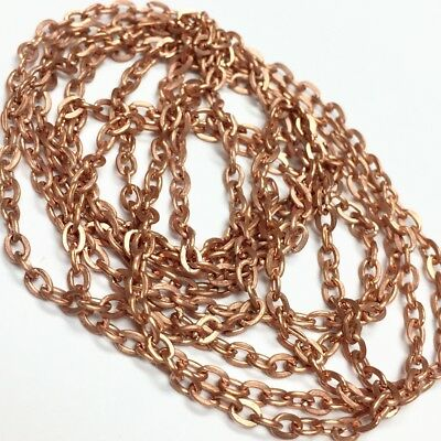 Vintage Copper Plated Aluminum Chain 2 x 3mm - 18991