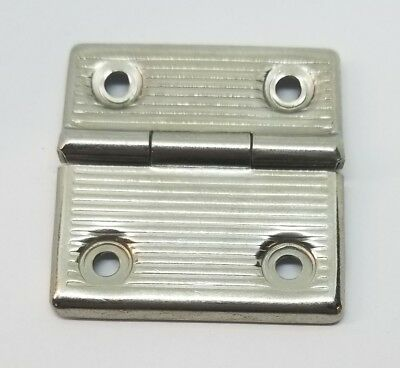 Nickel Plated Stamped Steel New (old stock) Briefcase Hinge vintage antique old
