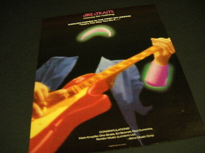 DIRE STRAITS That's How You Do It MONEY FOR NOTHING 1988 Prom Poster Ad mint