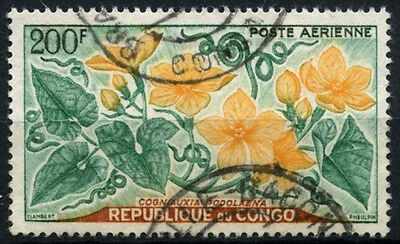 Congo 1961 SG#10, 200f Flowers, Air Used #D35368