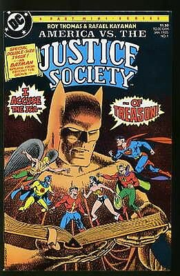 America Vs. The Justice Society #1-4 Very Fine Complete Set 1985