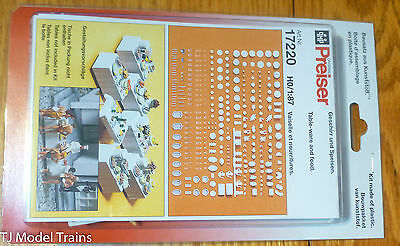 Preiser HO #17220 Accessories -- Tableware/Food for Tables