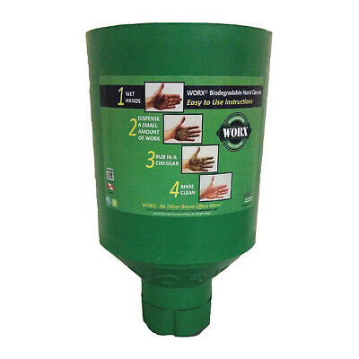 WORX ALL-NATURAL HAND CLEANER 11-9999 Industrial Dispenser, 3.0 - 4.5 lb, Green