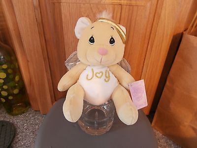 Precious Moments Tender Tails Plush Angel Bear-Beige-Joy-2000-NWT