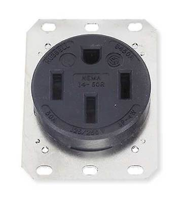HUBBELL WIRING DEVICE-KELLEMS HBL9450A 50A 4W Single Receptacle 125/250VAC