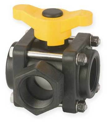 "1-1/4"" FNPT Polypropylene Ball Valve 3-Way BANJO V125SL"