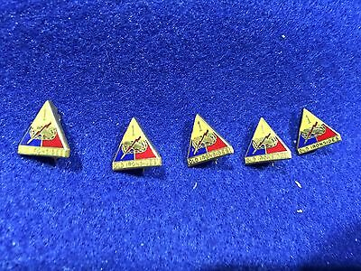 Lot of 5 Vintage US Army 1st Armored Division Pins