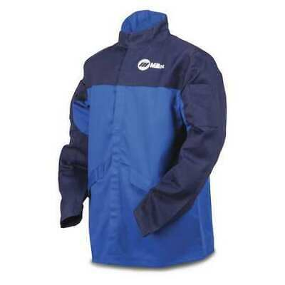 MILLER ELECTRIC 258100 Welding Jacket, Royal/Nvy, Ctn INDURA, 2XL
