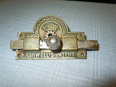 Antique/Victorian ASHWELLS BRASS VACANT ENGAGED LOCK 4 PARTS OR REPAIR