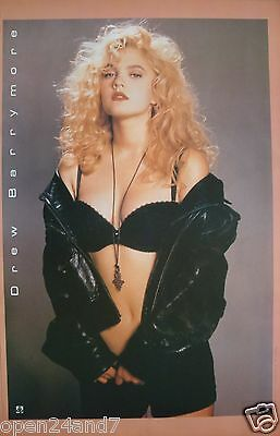 """Drew Barrymore """"wearing Black Bra & Shorts"""" Poster From Asia"""