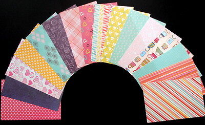"""*TEEN TIME* Colourful Scrapbooking/Cardmaking Papers x 16 - 15cm x10cm-(6""""x 4"""")"""