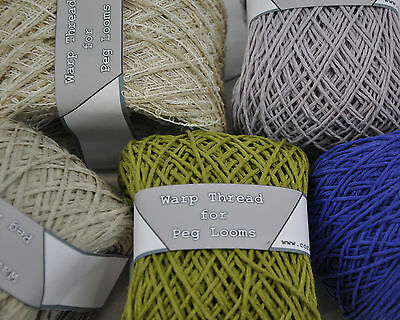 warp thread for peg loom weaving 100g balls  decorative and smooth