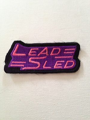 Lead Sled Embroidered Patch With Adhesive Iron On Back