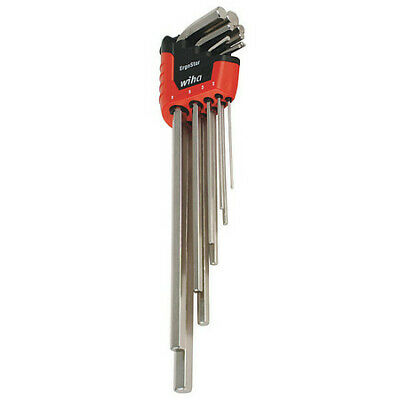 WIHA TOOLS 35297 Hex Key Set,1.5 - 10mm,L-Shaped,Long