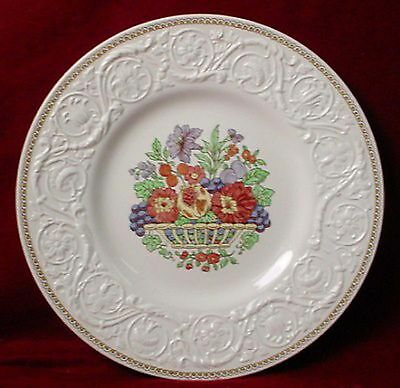 "WEDGWOOD china WINDERMERE AK7868 pattern Dinner Plate @ 10-5/8"" crazed"