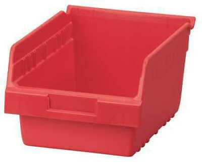 "Red Shelf Bin, 11-5/8""L x 8-3/8""W x 6""H AKRO-MILS 30080RED"