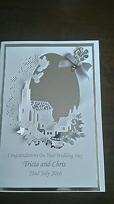 LARGE  Wedding/Anniversary/Christening Card. HANDMADE and PERSONALISED