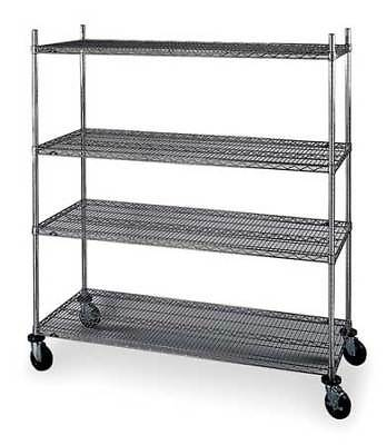 METRO N556BC Wire Cart, 24 In. W, 48 In. L, Chrome