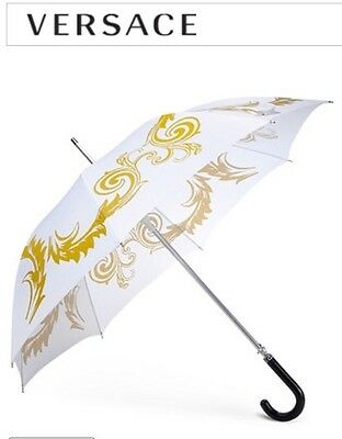 Versace Medusa Executive Umbrella White/Gold BRAND NEW!