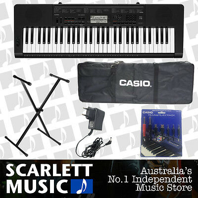 Casio CTK-3200 w/Stand+Adapter+Plug n Play Pack+Gigbag - **5 YEARS WARRANTY**