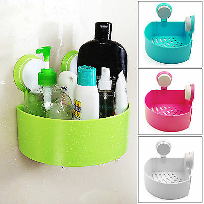 Suction Corner Rack Shelf Organizer Caddy Storage Bathroom Shower Wall Basket