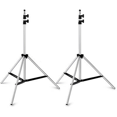 "Neewer 2 Pieces 75""/190cm Photography Studio Video Adjustable Silver Light Stand"
