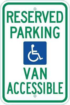 ZING 2680 Handicap Parking Sign, 18in Hx12in L