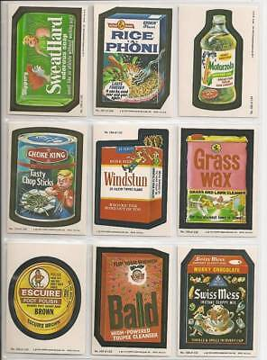 1979 Topps Wacky Packages Complete 2nd Series 2 66 Sticker Card Set EX+