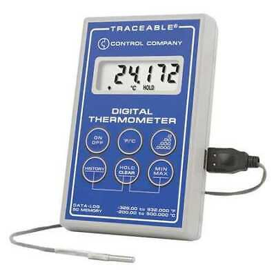 CONTROL COMPANY 6413 Thermometer, -148 to 392 deg. F, USB