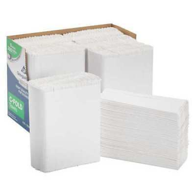 Georgia-Pacific White Paper Towels, C-Fold, 6 Pack, 200 Sheets/ Pack, 2112014