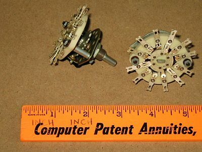 3P3T CERAMIC ROTARY SWITCHES. Lot of 2