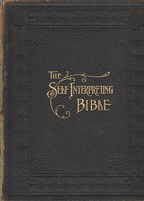 James W. Lee, The Self Interpeting Bible, 3volumes, moroccan leather,1896