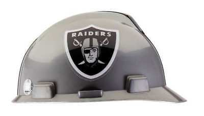 MSA 818405 NFL Hard Hat, Oakland Raiders, Gray/Black