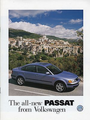 VW Passat 1997 8 Page Full Colour Brochure Mint NOS (New Old Stock)