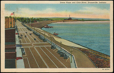 1946 - Dress Plaza and Ohio River, Evansville, Indiana