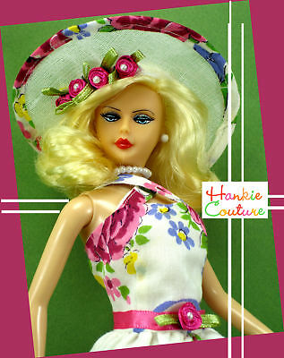 "New Hankie Couture 11 1/2"" Plastic Doll Long Hair Blond"