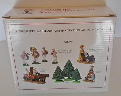 The Liberty Collection Hand Painted Pewter 10 Piece Accessory Set New AH292