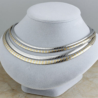 Silver/Gold Stainless Steel Women Choker Charm Collar Necklaces Fashion Jewelry