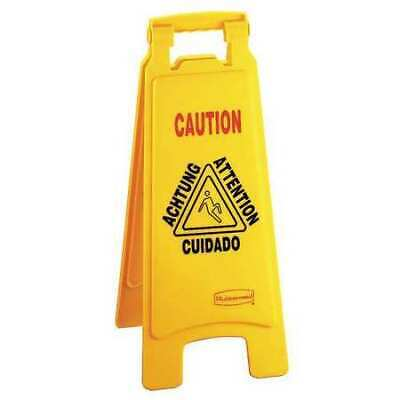 Floor Safety Sign, Rubbermaid, FG611200YEL