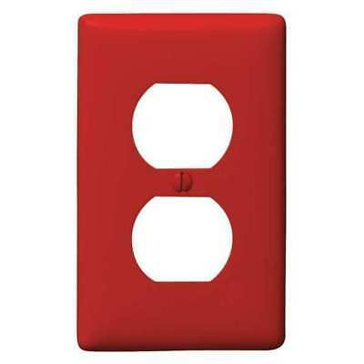 Duplex Receptacle Wall Plate, Hubbell Wiring Device-Kellems, NP8R