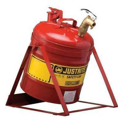 JUSTRITE 7150156 Type I Faucet Safety Can, 5 gal., Red