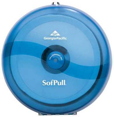 Sofpull Toilet Paper Dispenser,Centerpull,Splash Blu GEORGIA-PACIFIC 56500