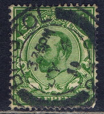 Great Britain #151(9) 1911 1/2 pence green King George V BRISTOL 1911 CV$4.50