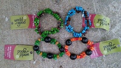 31 PC Lot NWT WORLD of GOOD Fair Trade Tagua Seed Bracelets Colombia Blue Green