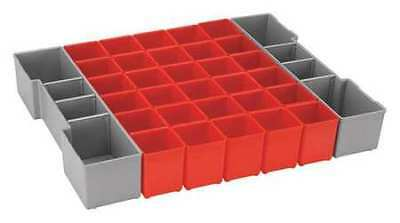 Storage Box, Plastic, Red/Gray, Bosch, ORG1A-RED