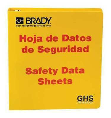Safety Data Sheets (SDS), Right to Know Binder, Brady, 121185