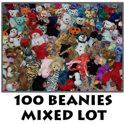 TY Beanie Babies - Mixed Lot of 100 Beanies - MWMTs Wholesale Lot