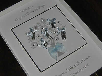 Personalised Handmade Christening/Naming Day/Baptsim Card - Luxury Boxed