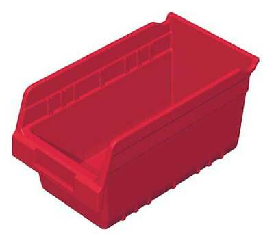 "Red Shelf Bin, 11-5/8""L x 6-5/8""W x 6""H AKRO-MILS 30090RED"